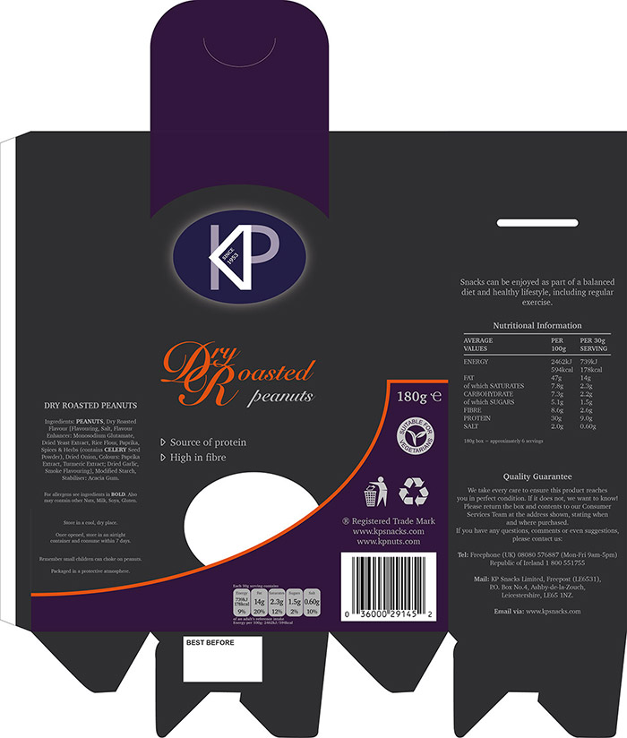 kp nuts re-brand dry roasted packaging