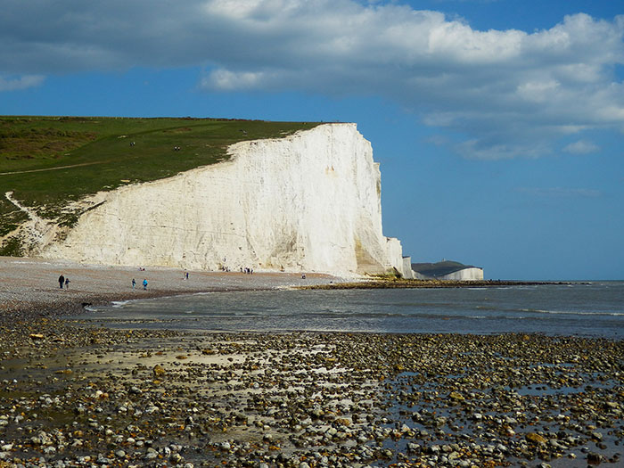 white cliffs dover england uk seven sisters country park
