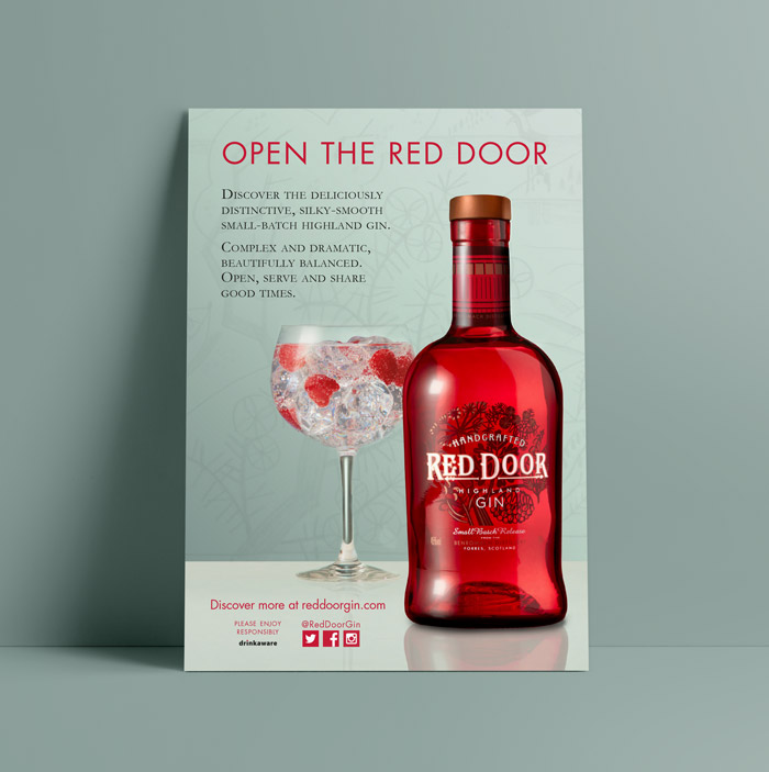 red door gin advert poster