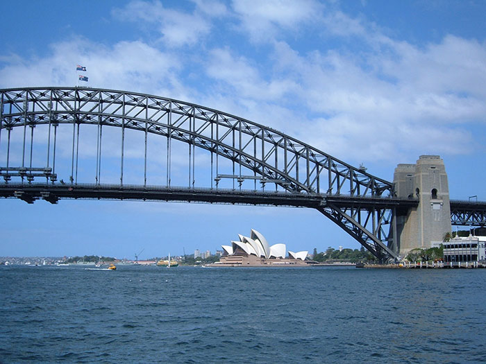 sydney bridge opera house